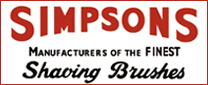 simpsons shaving brushes ad logo