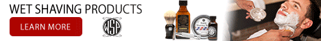 wet shaving products ad logo